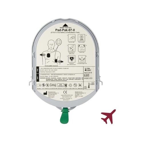 KIT batterie et électrodes PAD-PAK TSO ADULTES pour HEARTSINE SAMARITAN PAD 350P et 500P