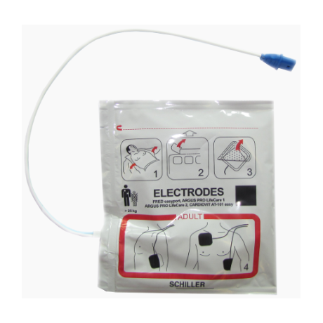 Electrodes adultes pour Schiller FRED PA-1